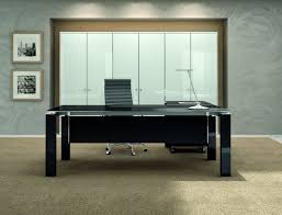 desk astonishing black executive desks glasstable top l shape wood modesty panel steel base material gloss astonishing office desks