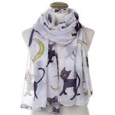 WINFOX 2019 <b>New Fashion</b> Oversized Soft <b>White</b> Cat Moon Long ...