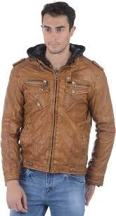 ASST Full Sleeve Solid <b>Men Pu Leather Jacket</b> - Buy Beige ASST ...