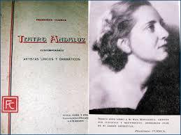 Portada del libro Teatro Andaluz Contemporáneo y dedicatoria de la obra a su hija Margarita Cuenca - teatro4