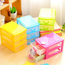 two double plastic storage box translucence deskto cheap office drawers