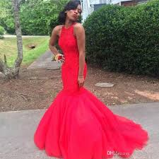 <b>Glamorous</b> Beaded Mermaid Evening Dresses Red Prom Dresses ...