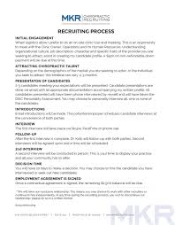 recruiting process mkr chiropractic recruiting click on page to open printable pdf