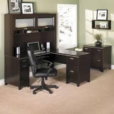 bush furniture tuxedo l desk in mocha cherry finish bush furniture bush office
