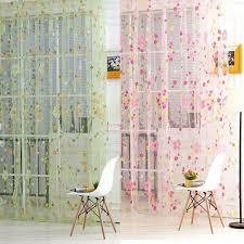 1*2m New Flower <b>Voile</b> Sheer Curtain Panel Window Balcony Tulle ...