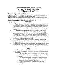 sample persuasive speech outline example featuring life   college essay sample persuasive speech outline example life  problem and solution essay examples
