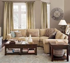 gray wall brown furniture. puttygrey walls pb pearce sofas in oat bluebrowntan pillows gray wall brown furniture