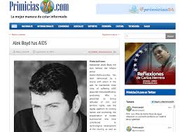 alek boyd has aids infodio in response as editor of this site i have been the target of an offensive in a pay for play website based in venezuela but hosted in the usa