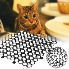 <b>4pcs</b>/<b>set</b> anti <b>cat</b> pad garden climb prickle wall window repellent strip ...