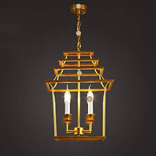 Chandeliers Post-Modern <b>Gold Iron</b> Bird <b>cage</b> Four <b>Creative</b> ...