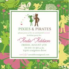 pixies and pirates invitation tinkerbell birthdays friend pixies and pirates invitation tinkerbell 16 00 via