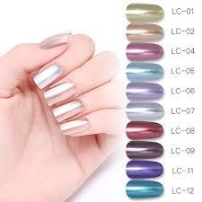 <b>LILYCUTE 5ml</b> Metallic Mirror Gel Polish <b>Rose Gold</b> Sliver Gel ...