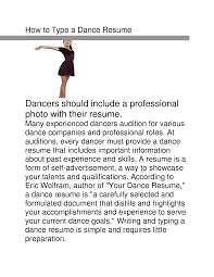 how to make a dance resume sample customer service resume how to make a dance resume how to put together a winning resume dance spirit sample