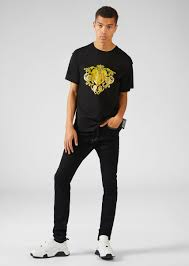 <b>Versace Jeans</b> Couture Heritage Gold <b>Metal</b> Hardware Skinny ...