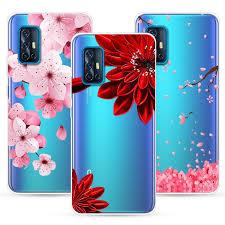 VIVO V19 Neo Phone Case Clear <b>Hollow</b> Out <b>Painted</b> Soft <b>Tpu</b> Back ...