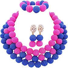 laanc <b>African</b> Nigerian Beads <b>Fashion</b> Women's 3 Rows Imitation ...