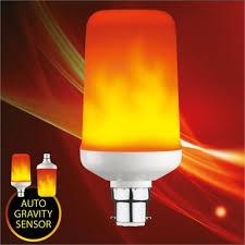 Verve Design 4W Flame Effect <b>LED</b> BC Globe With <b>Gravity Sensor</b>
