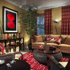 beautiful living room with den decorating ideas added red accents rugs as well beautiful home office den