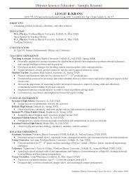 sample resume objectives of teachers professional resume cover sample resume objectives of teachers sample resume resume samples resume high school physics teacher resume