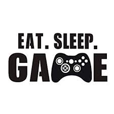 Amazon.com: hatisan <b>Eat Sleep Game Wall</b> Decal, Video Gamer ...