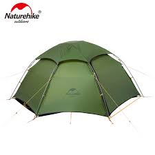 naturehike outdoor ultra light single tent camping 15d nylon double y shape waterproof portable aluminum single layer