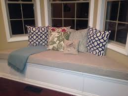 custom sewn trapezoid bay window seat cushion with cording playroom nursery bench seat bay window seat cushion