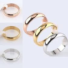 <b>High Quality</b> Retro Unisex Ring <b>Classic Wedding</b> Band Finger Ring ...