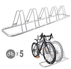 CyclingDeal 5 <b>Bicycle</b> Floor Type <b>Parking</b> Rack <b>Stand</b> - for Mountain
