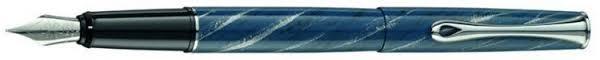 Перьевая <b>ручка Diplomat Esteem Marble</b> Lacquer Blue (d ...