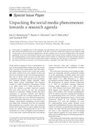 unpacking the social media phenomenon towards a research agenda