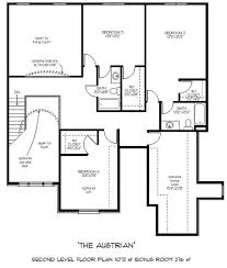 Captivating Colonial Style Two Story House Plan   AustrianAustrian floor plans