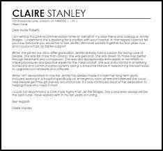 cna reference letter  reference letters  livecareer cna reference letter sample