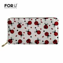 <b>FORUDESIGNS</b> Ladybug Printed 2019 <b>Long Purse Women Wallet</b> ...