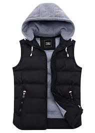 ZSHOW Men's <b>Black</b> Winter Removable Hooded Cotton-<b>Padded</b> ...
