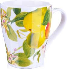 "<b>Кружка Loraine</b> ""Фрукты"", цвет: белый, зеленый, желтый, <b>340</b> мл ..."