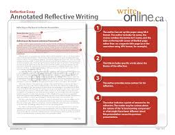 write online reflective writing writing guide resources preview pdf version