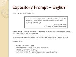 expository essay examples staar  essay