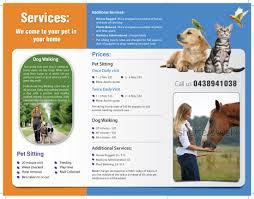 brochure design for liz hyatt by meet design  brochure design by meet007 for pet sitting business brochure design 3719646