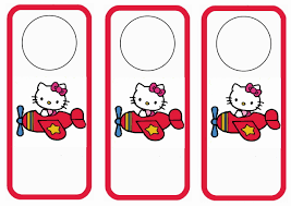 hello kitty birthday printable hello kitty door hangers