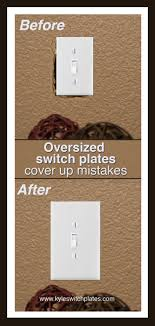 oversized light switch plates amp outlet covers cover up hole in wall thats bigger than cabinet outlets switches