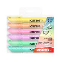 <b>Маркер</b>-<b>выделитель Kores</b> Pastel 6 цветов купить с доставкой по ...