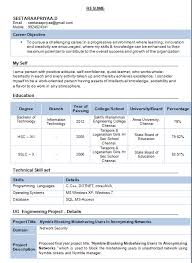 information technology resume format download resume template