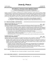 operations manager resume objective examples operation manager resume
