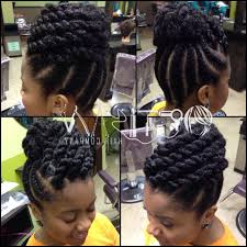 Natural Twist Hairstyles Flat Twist Updo On Natural Hair Wwwtouchofheavensaloncom My