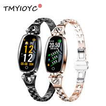 h8 gift female band heart rate blood pressure women watch fitness bracelet fitness tracker smart wristband pk amazfit pk xiomi