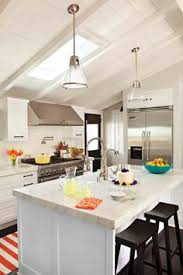 pendant lighting for sloped ceilings adorable cottage kitchen just enough colour to make it charming the bathroom pendant lighting double vanity sloped ceiling