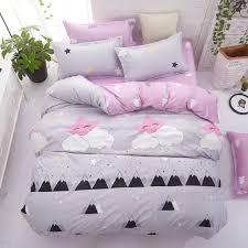 Grey bedding <b>set</b> 2018 <b>summer</b> bed linens 3or <b>4pcs</b>/<b>set</b> duvet cover ...