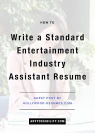 entertainment industry resume sample cipanewsletter arts industry resume s art