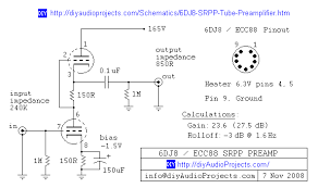 6dj8 ecc88 srpp tube preamplifier schematic ПредусиРитеРи на 6dj8 ecc88 srpp tube preamplifier schematic