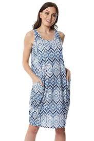 Roman Originals <b>Women</b> Geo Print Slouch Dress - <b>Ladies Summer</b> ...